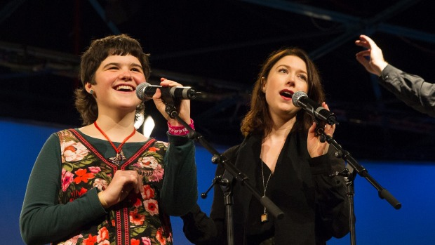 Deborah Barkley, 14, is a massive Hayley Westenra fan. Her dying wish came true when she got to sing with her idol alongside the Christchurch Symphony Orchestra at the Air Force Museum.  KIRK HARGREAVES / FAIRFAXNZ