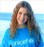 Hayley supports UNICEF